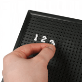 Peg Board Numbers (pictured: 13mm pegboard numbers)