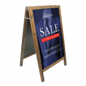 Wooden Chalk A Board with vinyl posters