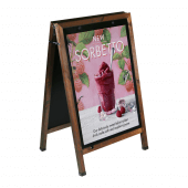 Wooden A Board Poster Holder Dark Oak