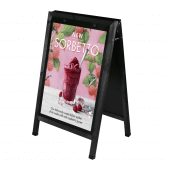 Wooden A Board Poster Holder Black