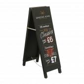 Branded Tall Thin Chalkboard Sandwich Board