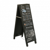 Chalkboard available with or without branded headers