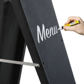 Use chalk pens to create stunning hand drawn or stenciled displays