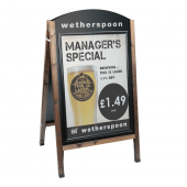 Snap Frame Wooden Chalk A Board with poster and branding