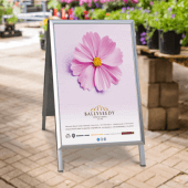 Outdoor pavement sign A board