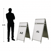 A Board with Header available in A1 or A2 primary poster sizes