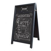 Black Chalkboard Wooden A Board