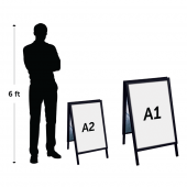Black A1 pavement sign and smaller A2 version