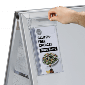 Outdoor A Board Leaflet Holder in use