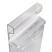 Outdoor A Board Leaflet Holder top
