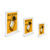 Magnetic Clear Acrylic Block Sign Holder three sizes