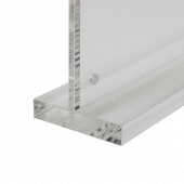 Magnetic Clear Supervue Acrylic Block Sign Holder base