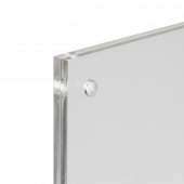 Magnetic Clear Acrylic Block Sign Holder magnet