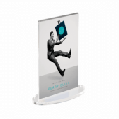Oval Base Supervue Acrylic Poster Holder Portrait (Double Sided)