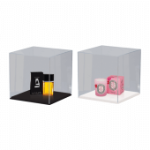 Acrylic Display Case with choice of black or white base
