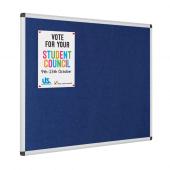 Blue Fire Resistant Aluminium Frame Notice Board