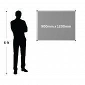 Framed Fire Resistant Notice Board 900mm x 1200mm