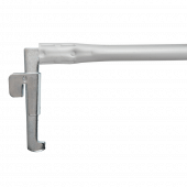 Telescopic arm for adjustable aisle sign