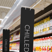 Magnetic banner hanger for aisle signs