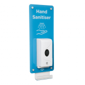 Wall Mounted Hand Sanitiser Station with Acrylic Standoff Sign