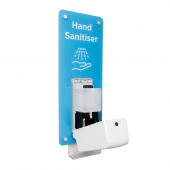 The sanitiser dispenser has an 800ml capacity