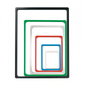 Various colours and sizes of showcard holder available