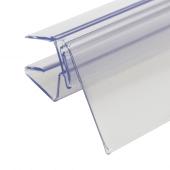 Clear PVC data strip scanner rail