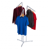 Create a multi-level retail clothes display