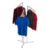 Create a multi-level retail clothes rail display