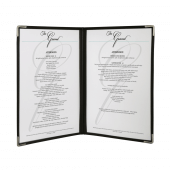 American style plastic menu covers A4, supplied in a pack of 3