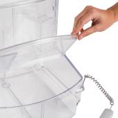 Easy to open food dispenser scoop bin