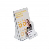 A5 Leaflet Holder with a Business Card Pocket