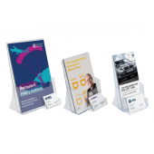Leaflet Holder with a Business Card Pocket in various sizes
