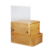 Bamboo Suggestion Box with Lock Natural