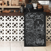 Unframed blackboard