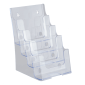 Wall mounted four tier A5 leaflet holder