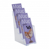 Leaflet dispenser to suit A5, A4 and 1/3 A4 (third A4)