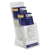 Two tier leaflet holder for 1/3 A4 brochures