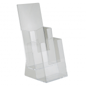 Two tier 1/3 A4 leaflet dispenser for counterstanding