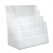 Four Tier Multiple Size Leaflet Holder Counter Standing