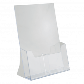 Twin 1/3 A4 Leaflet Holders Portrait Counter Standing
