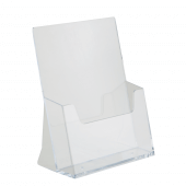 Leaflet dispenser in clear 2mm styrene