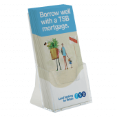Free standing brochure holder in A5, A4 and 1/3 A4 paper sizes