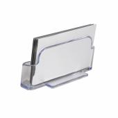 Business card holder for desk tops