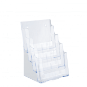 Four tier A4 leaflet holder