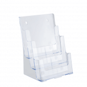 Three tier leaflet holder for A4 documents