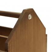 Wooden condiment caddy with handle