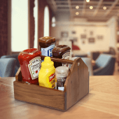 Condiment caddy for sauces and cutlery