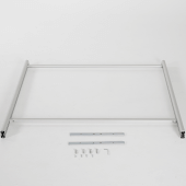 Large perspex sneeze guard supplied with feet and fixings