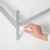 The countertop sneeze guard is adjusted using an allen key